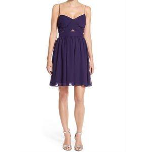Soprano Sleeveless Chiffon Fit & Flare Dress